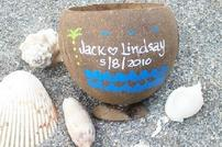personalized coconut cup